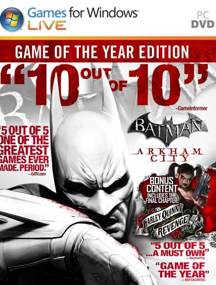 Batman Arkham City PC Game Free Download The Year Edition